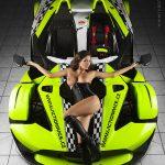 sexy glamour akt rychlá drahá auta ženy dívky modelky